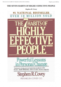 Book Cover: The 7 Habits of Highly Effective People. By Stephen Covey